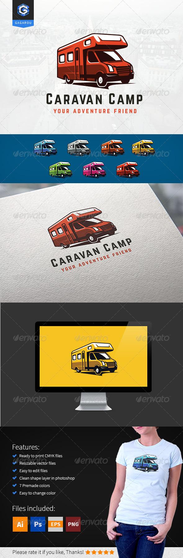 GraphicRiver Caravan Camp logo 8523008