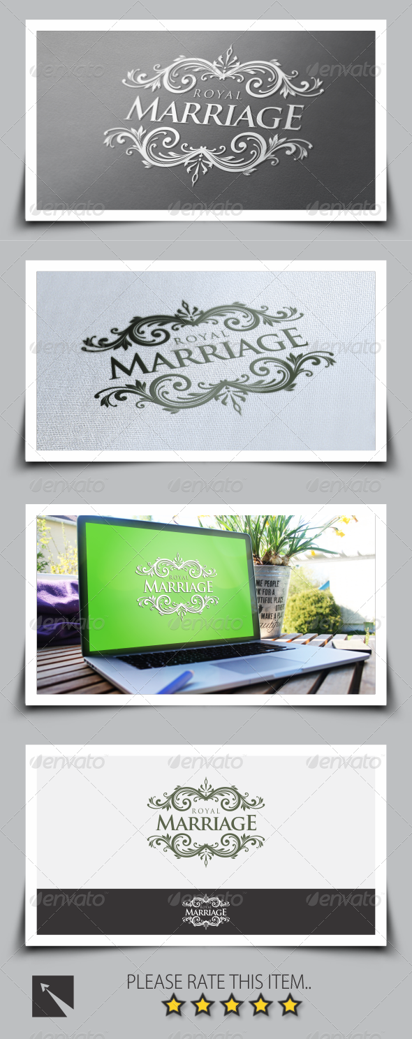GraphicRiver Royal Marriage Logo Template 8523020