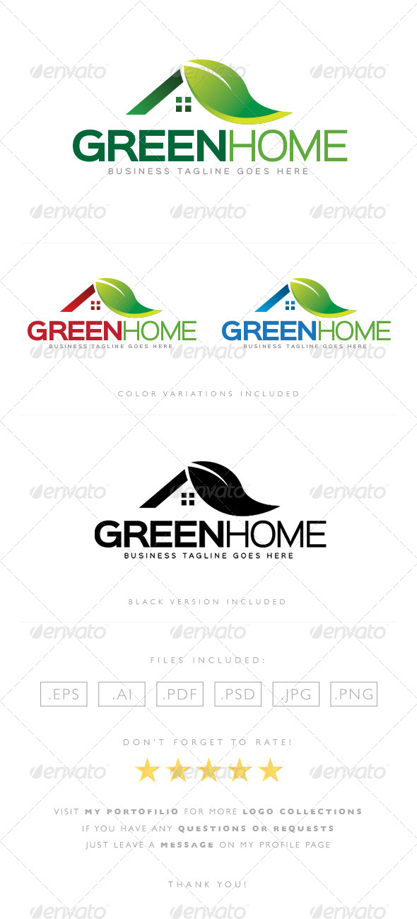 GraphicRiver Green Home Logo 8523223