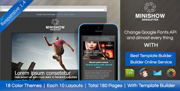Minishow Responsive Email Template - Email Templates Marketing