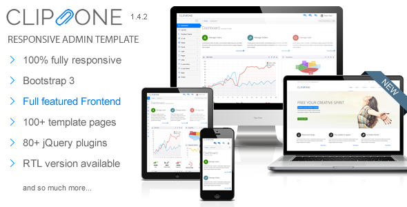 Clip-One - Bootstrap 3 Responsive Admin Template - Admin Templates Site Templates