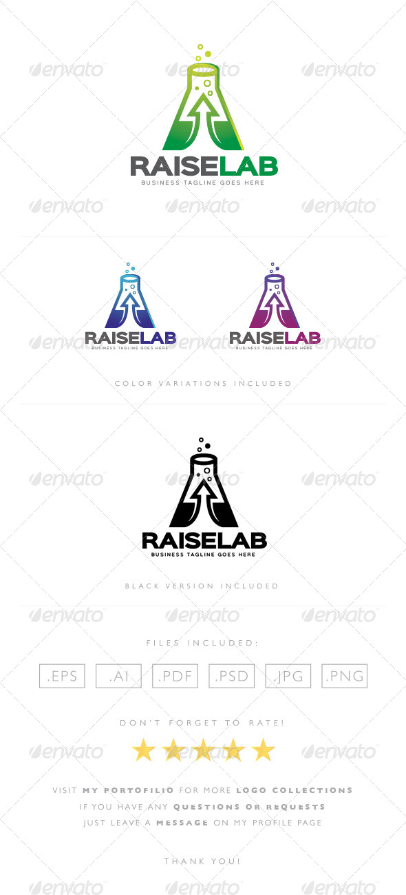 GraphicRiver Raise Lab Logo 8523417