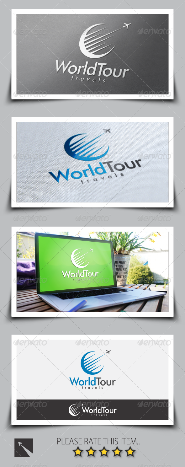 GraphicRiver World Tour Travel Logo Template 8523427