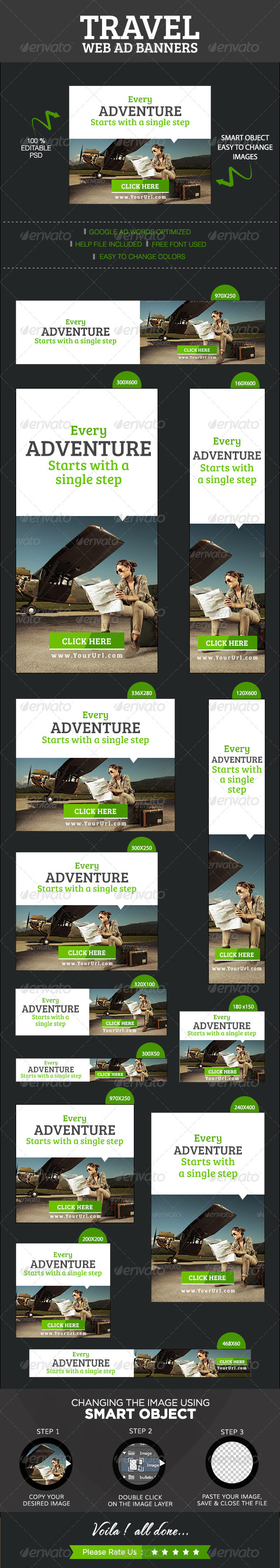 GraphicRiver Travel & Tourism Banners 8523428