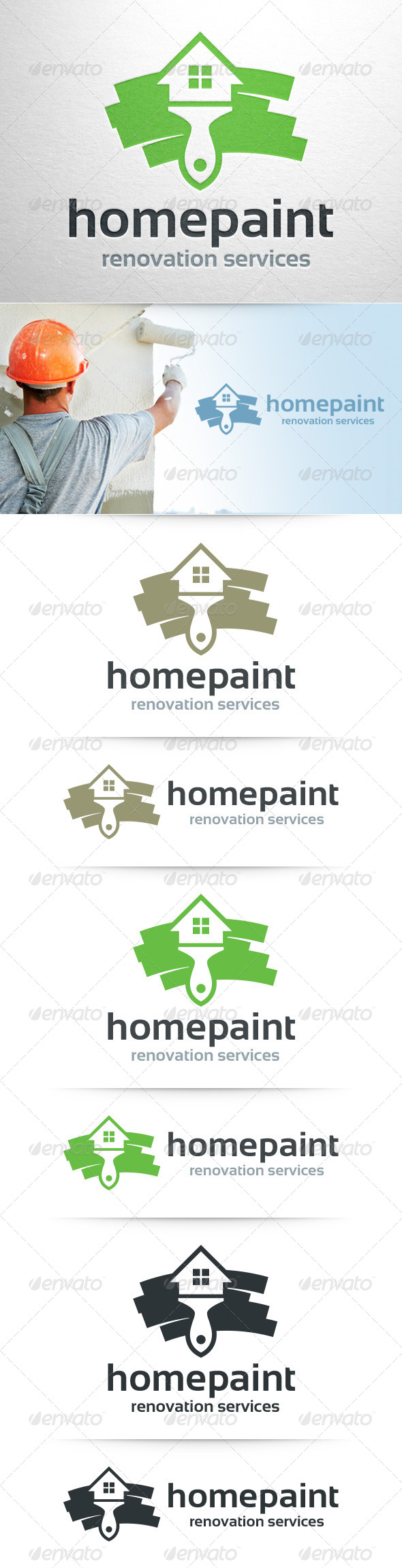 GraphicRiver Home Painter Logo Template 8523715