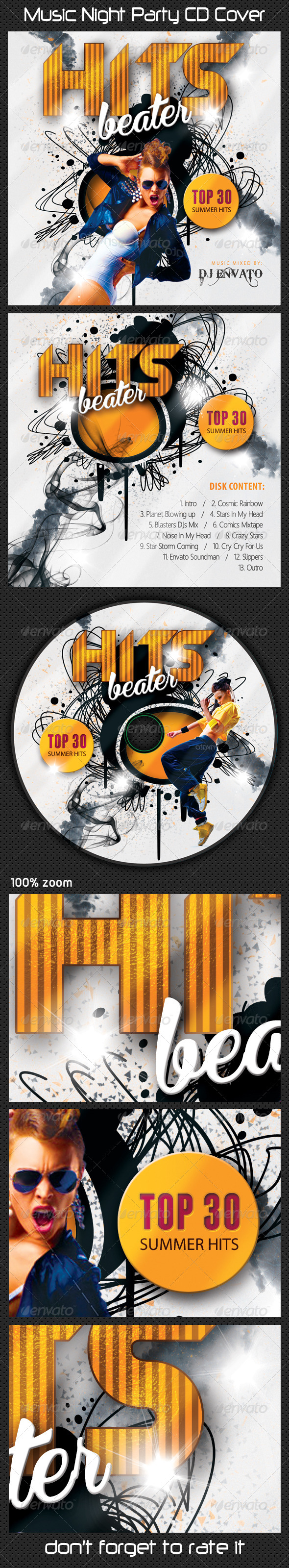 GraphicRiver Music Night Party CD Cover 08 8523893