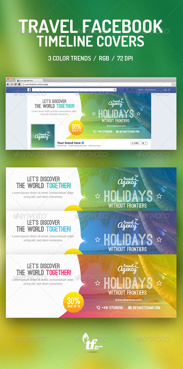 GraphicRiver Travel Facebook Timeline Covers 8523928