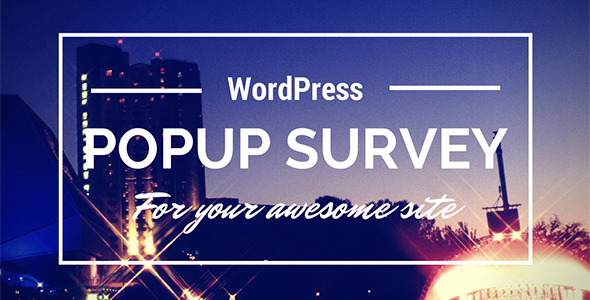CodeCanyon Wp Popup Survey 8518673