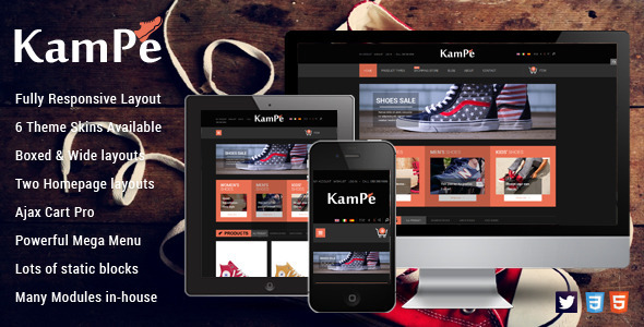 SM Kampe - Responsive Magento Theme - Magento eCommerce