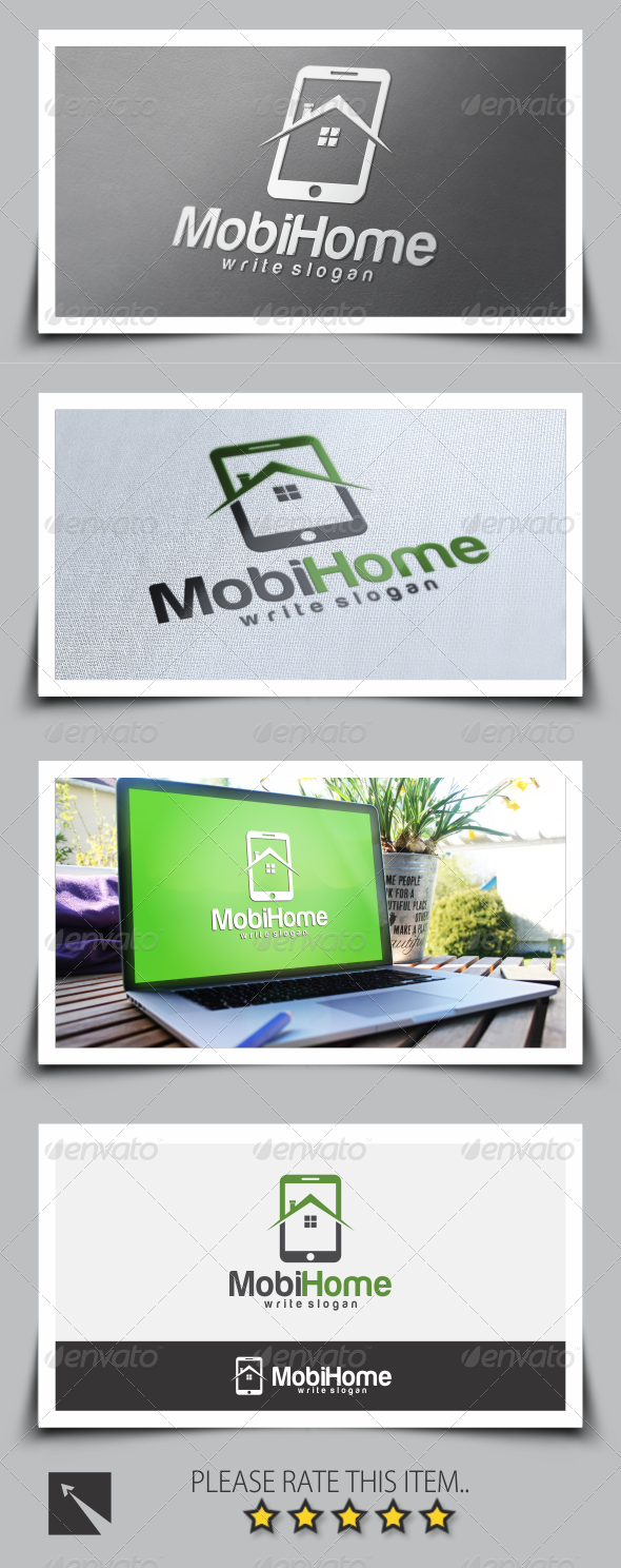 GraphicRiver Mobile Home Logo Template 8524130