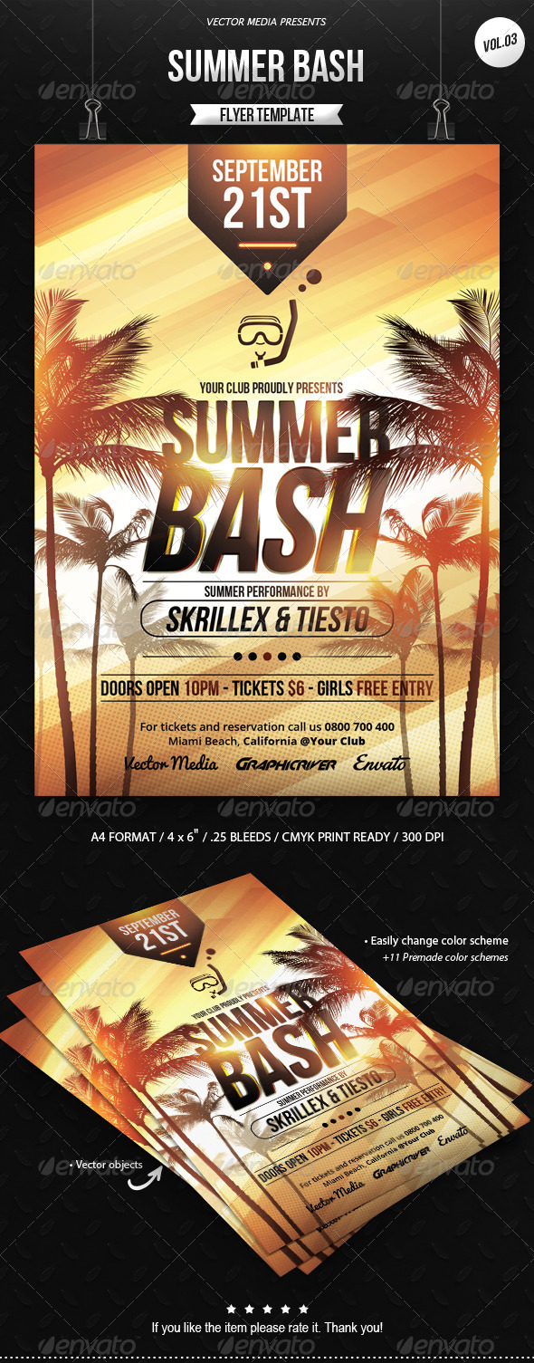 GraphicRiver Summer Bash Flyer [Vol.3] 8524179