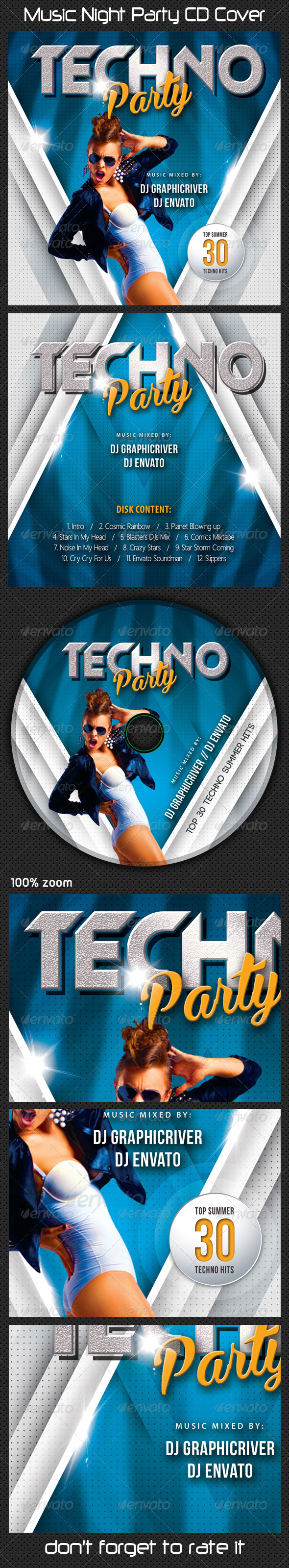 GraphicRiver Music Night Party CD Cover 09 8524194