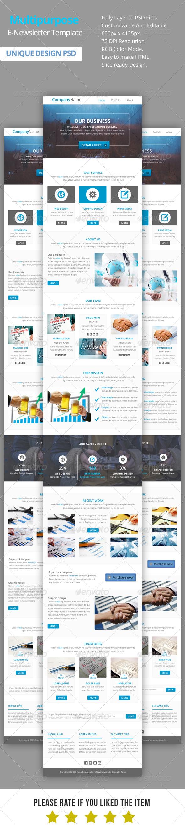 GraphicRiver Multipurpose E-Newsletter Template V11 8524294