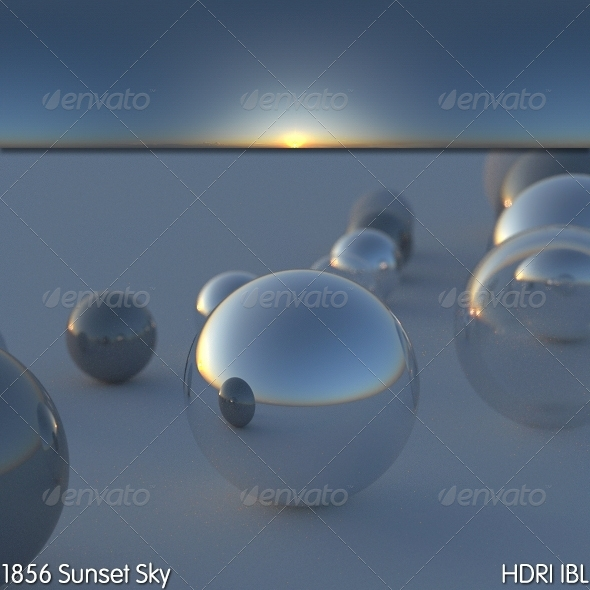 HDRI IBL 1856 Sunset Sky - 3DOcean Item for Sale