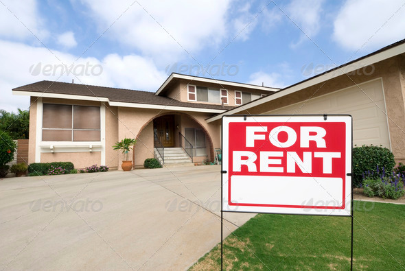 Home for rent - Stock Photo - Images