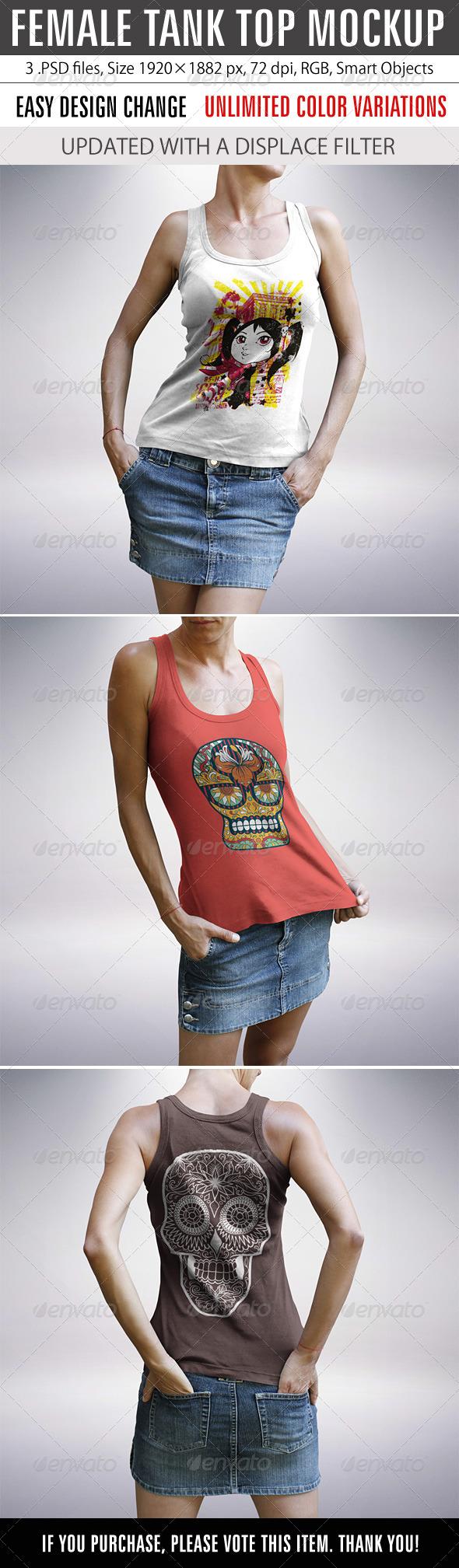 GraphicRiver Female Tank Top Mockup 8522180