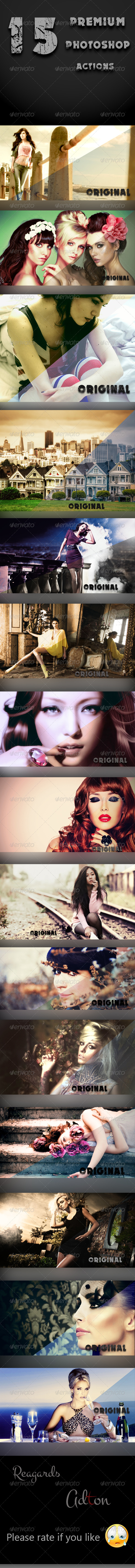 GraphicRiver 15 Premium Photoshop Actions 8524657