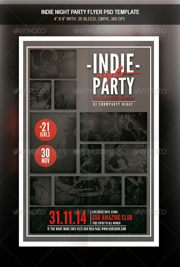 GraphicRiver Indie Party Night Flyer 8524814