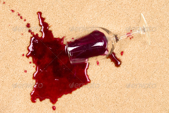 PhotoDune Spilled wine on carpet 883177