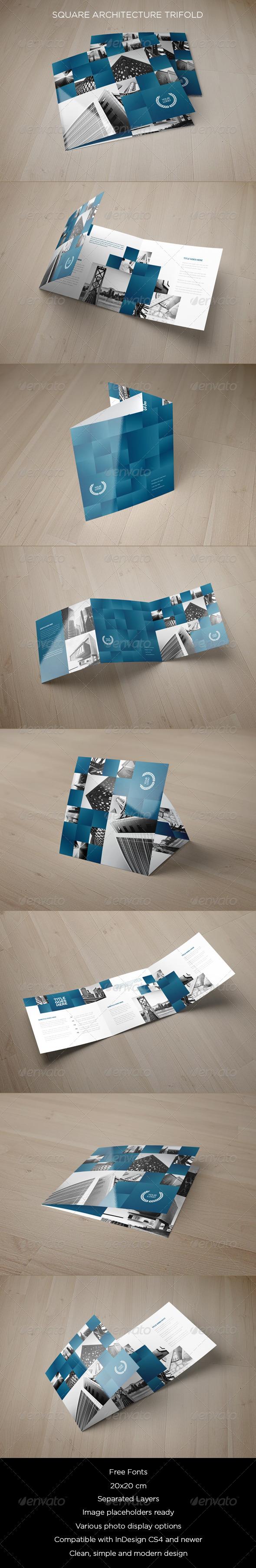GraphicRiver Square Architecture Trifold 8525144