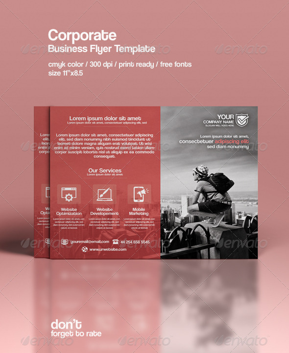 GraphicRiver Corporate Flyer Template 8525297