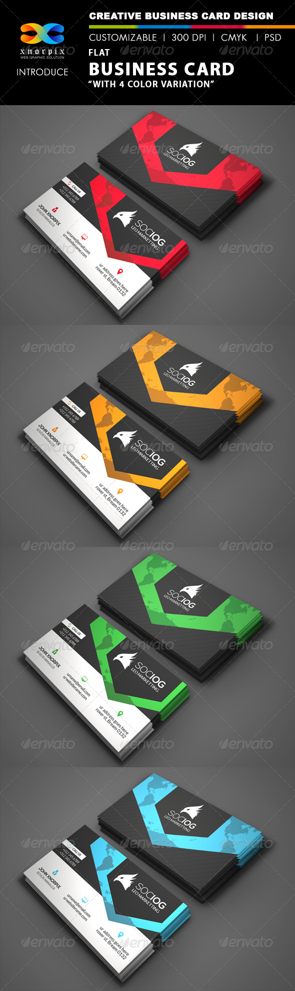 GraphicRiver Flat Business Card 8525359