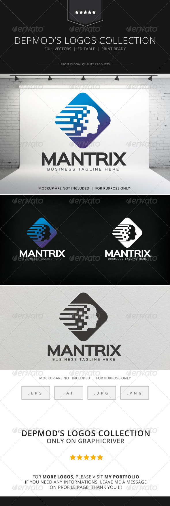 GraphicRiver Mantrix Logo 8525427