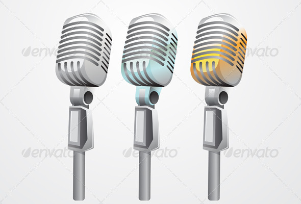 GraphicRiver Mic Illustration 8525486
