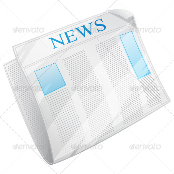 GraphicRiver Newspaper Icon Illustration 8525562