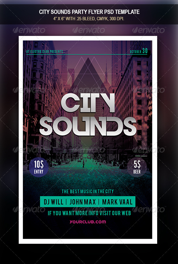 GraphicRiver City Sounds Flyer 8525591