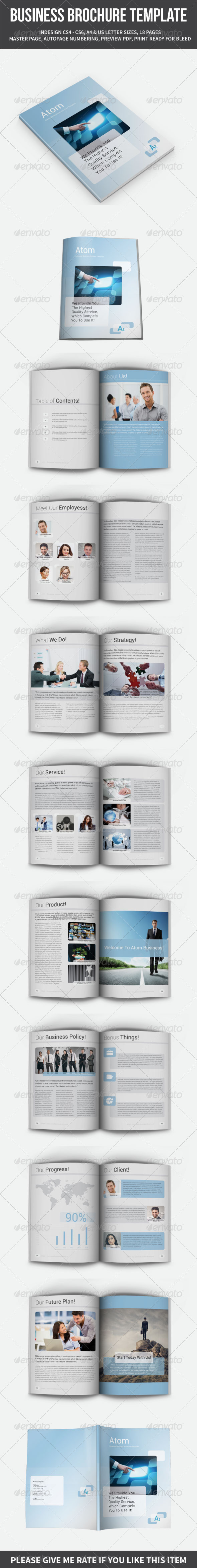 GraphicRiver Business Brochure Template A4 and Letter 18 Pages 8525676