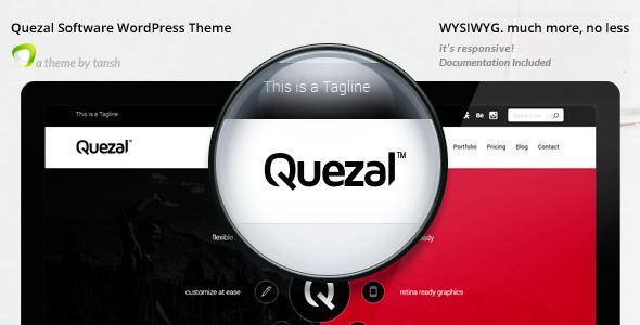 Quezal Software Responsive WordPress Theme - Software Technology