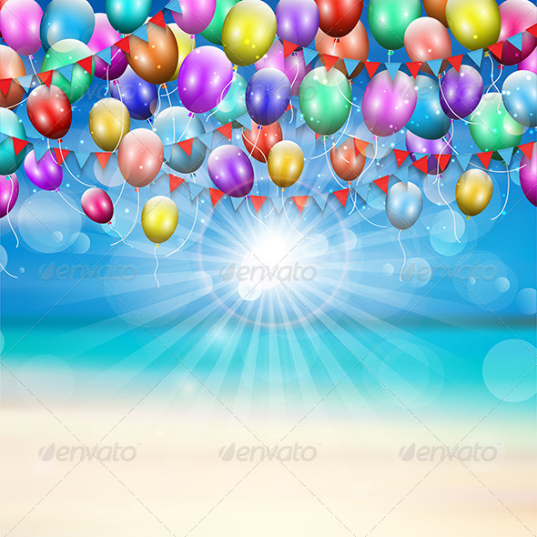 GraphicRiver Balloons Background 8525870