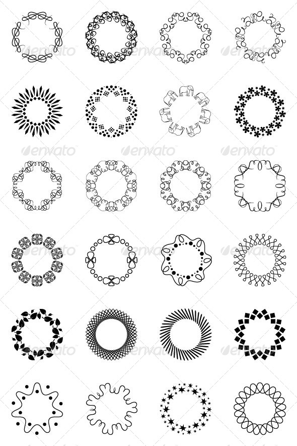 GraphicRiver Large Ornaments of Rings 8525429