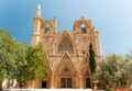 Lala Mustafa Pasha Mosque (formerly St. Nicholas Cathedral), Famagusta, Northern Cyprus. Front view - PhotoDune Item for Sale