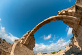 Ruins of Saranta Kolones castle. Paphos, Cyprus - PhotoDune Item for Sale