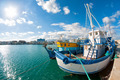 Old fishing boat in Limassol harbour. Cyprus - PhotoDune Item for Sale
