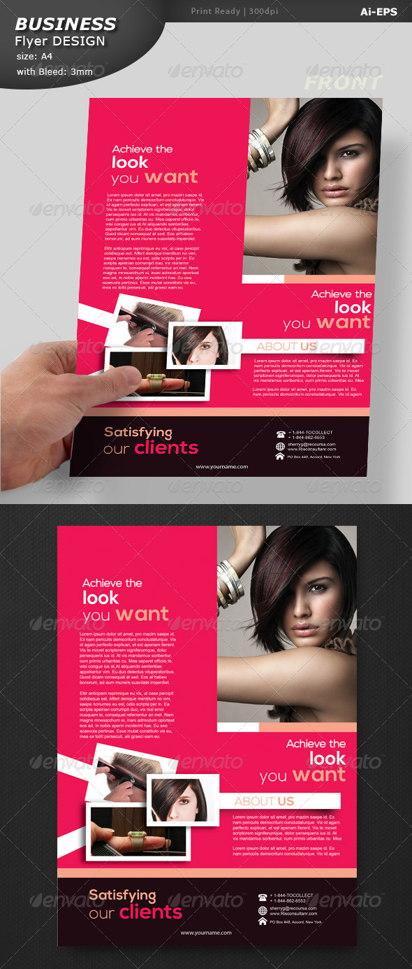 GraphicRiver Fashion Exhibition Flyer Design 8524018