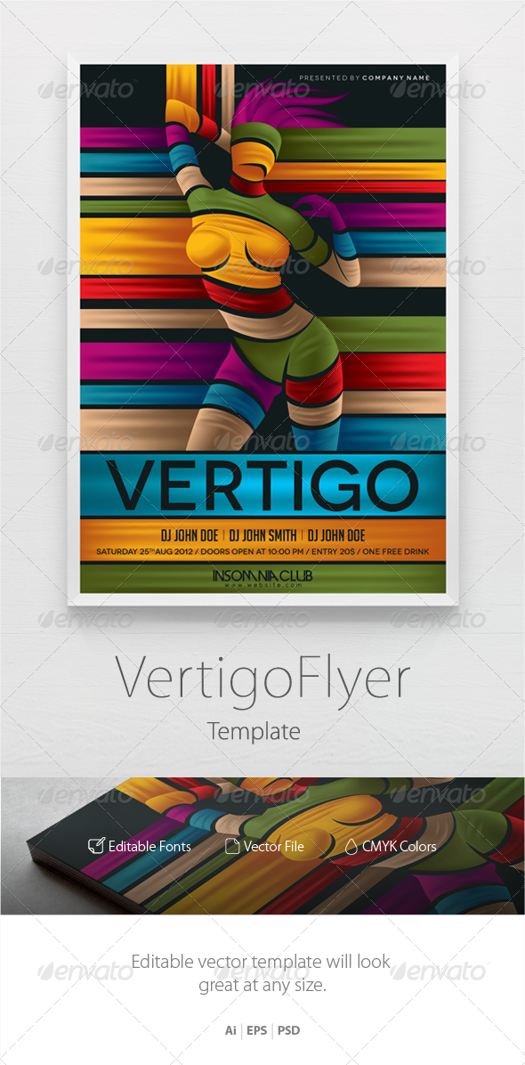 Party Flyer Template Vertigo - Clubs & Parties Events