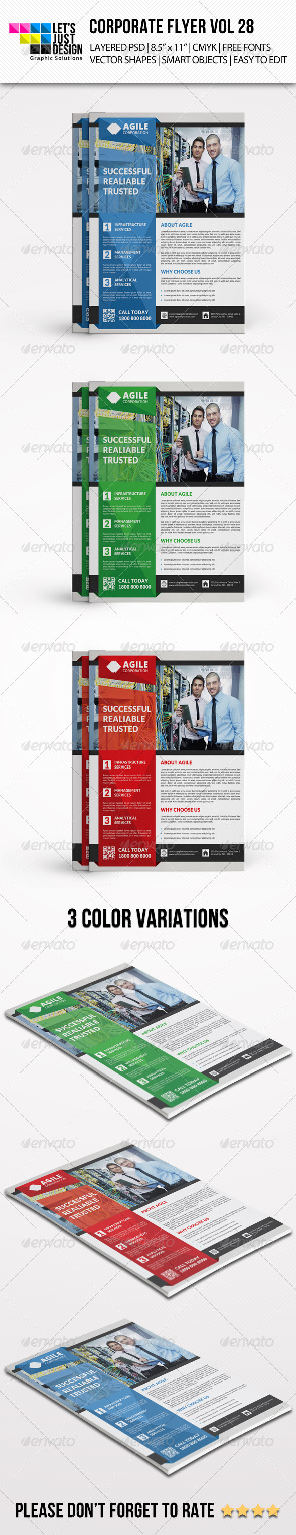 Corporate Flyer Template Vol 28