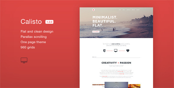 Calisto - One Page Muse Template - Creative Muse Templates