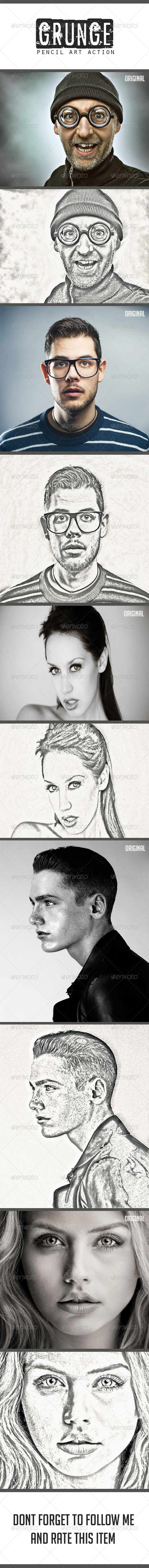 GraphicRiver Grunge Pencil Art Action 8526570