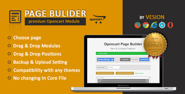 Page Builder For Opencart