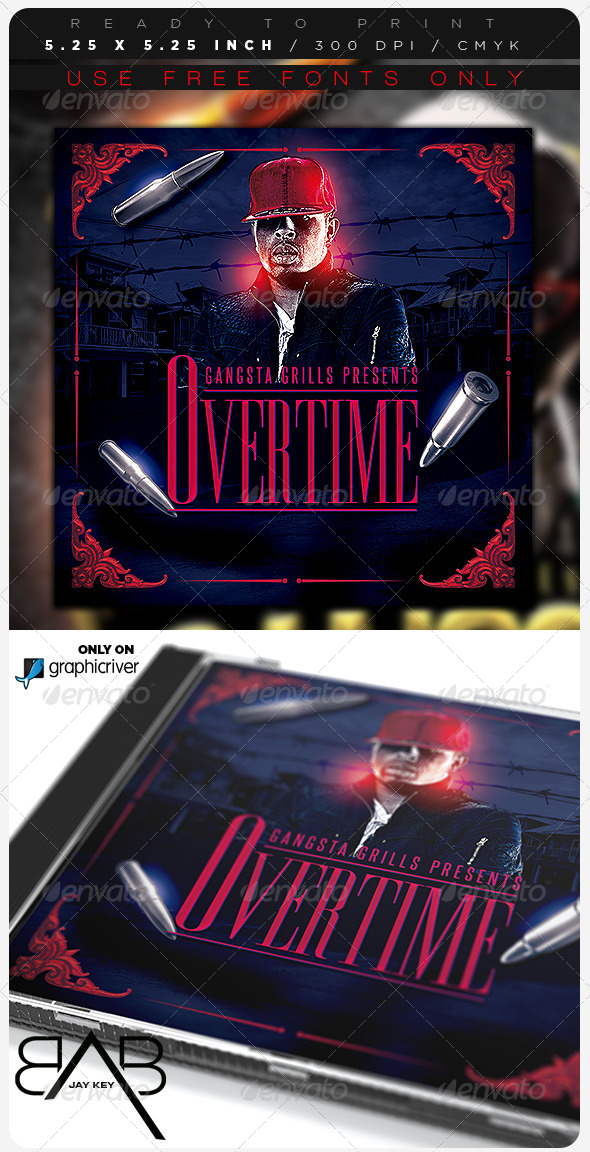 GraphicRiver Hip Hop Music Album Template 8526835