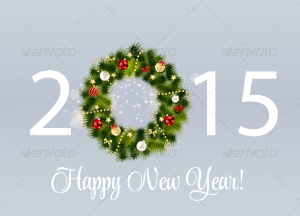 Abstract Beauty 2015 New Year Background