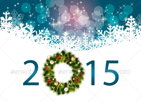 GraphicRiver Abstract Beauty 2015 New Year Background 8526854