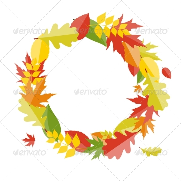 GraphicRiver Shiny Autumn Natural Leaves Background 8526861