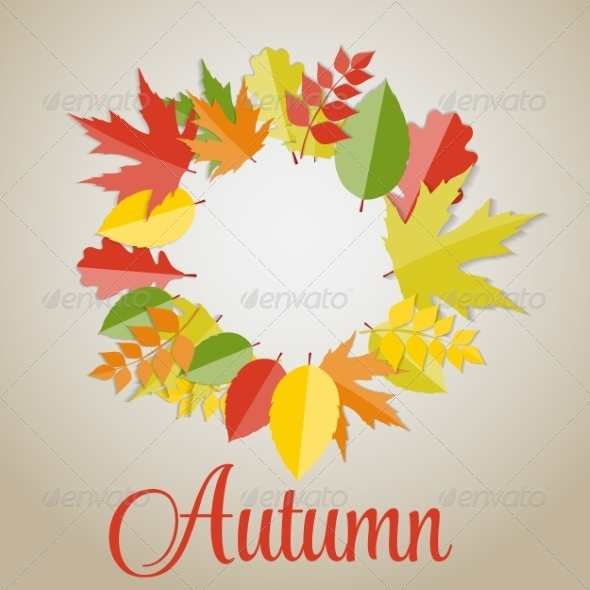 GraphicRiver Shiny Autumn Natural Leaves Background 8526868