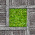 Wood texture on artificial grass background - PhotoDune Item for Sale