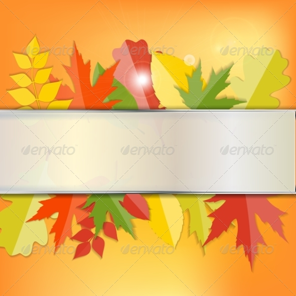 GraphicRiver Shiny Autumn Natural Leaves Background 8526876